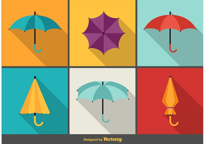 weather vacation umbrella travel symbol summer spring sign shape shadow season safety rain protection protect Parasol object modern Meteorology long isolated icon handle graphic flat climate beach background autumn accessory