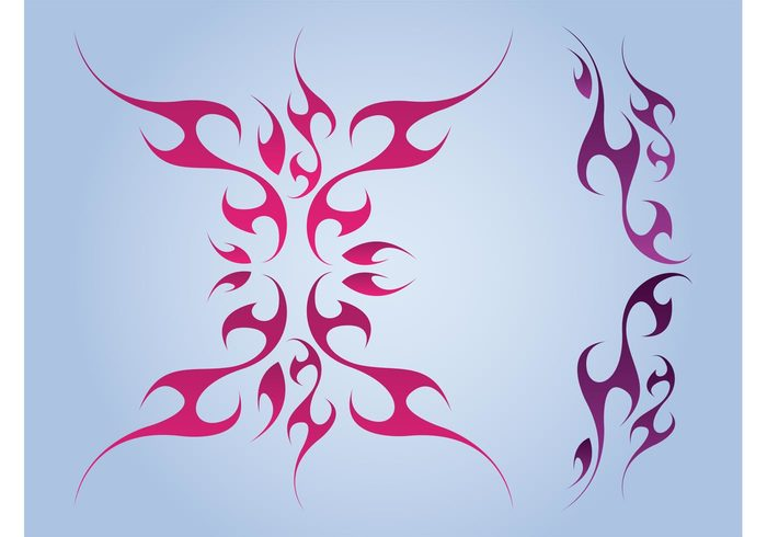 waves Tribal vector tribal tattoos Tattoo vector swirls stickers decorations decals curves curved colors colorful