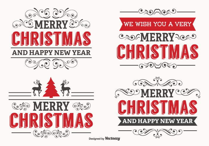 year word vintage typography typographic type text retro promotion postcard ornament new year new merry christmas merry Lettering letter labels label set label invitation holiday label holiday handwritten hand greeting frame deer decorative decoration classic christmas labels christmas card calligraphy calligraphic advertising abstract