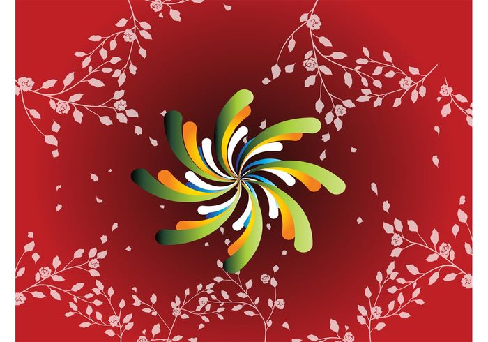 swirl spiral plants pinwheel nature free backgrounds flowers floral Desktop wallpaper Design Elements decorative decoration
