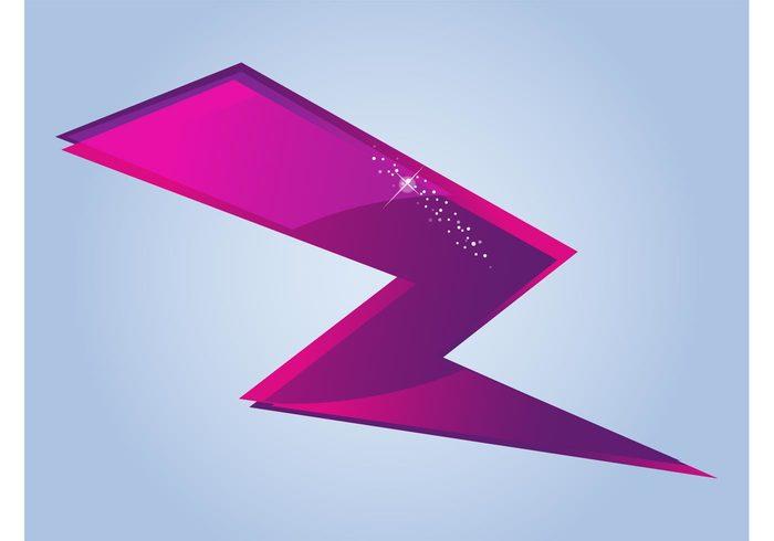 weather thunderbolt symbol sparkles shiny shines logo glossy electricity decoration Clothing print bolt