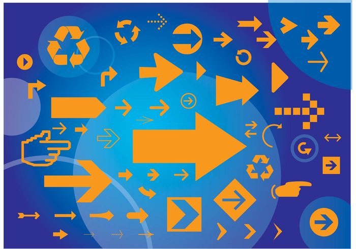 shape recycling recycle navigation icon graphic element geometric form figure download concept circle arrows arrow design arrow abstract