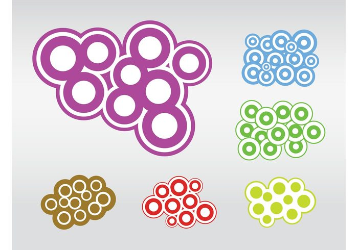 versatile round minimal Geometry geometric shapes funky Design Elements colors colorful circles