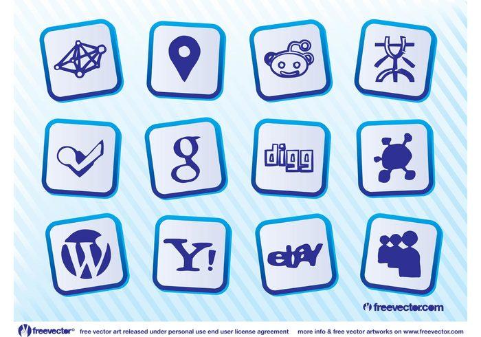 yahoo wordpress social reddit propeller places Mister wong google Foursquare Facebook ebay Dzone DIGG