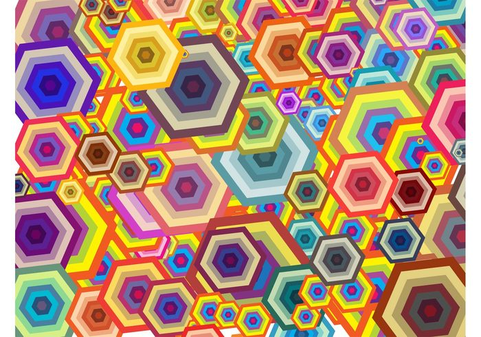 wallpaper template pop art hexagons Geometry geometric shapes background backdrop abstract