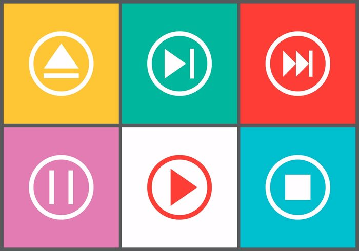 web symbol stop start sound sign rewind record push player play button icons play button icon play pause multimedia internet illustration icon forward controls control circle buttons button audio