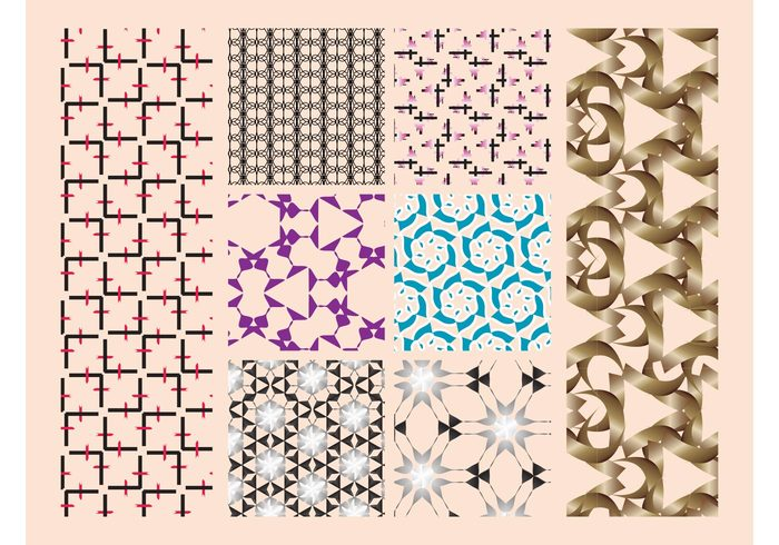 wallpapers Seamless patters lines geometric shapes flowers floral Fabric patterns decorations Clothing prints Backgrounds Backdrops abstract