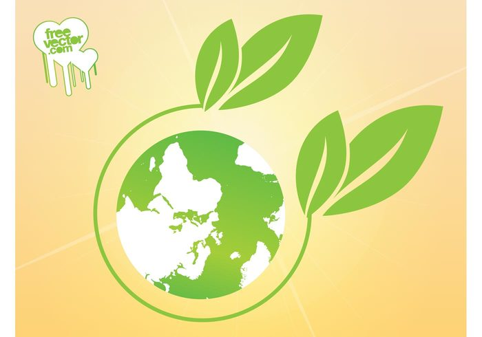 world plant planet nature logo leaves leaf icon globe environment ecology eco earth continents