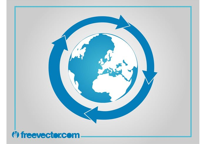 world pointers planet oceans logo islands icon globe global earth continents arrows