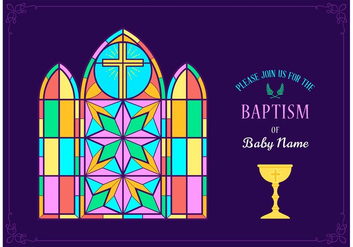 wreath window vector Tender template symbol stained glass religious religion object newborn little layout invite invitation illustration holy greeting frame event element decoration cup cross confession communion church christian christening child chalice catholic card boy birth baptism baby