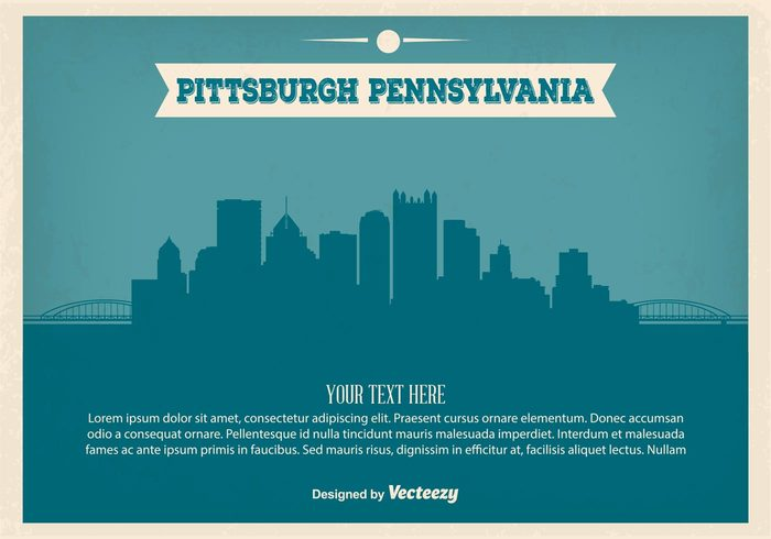 white Vintage Style vintage view urban united states travel tower tourism structure skyscraper skyline silhouette retro poster Place pittsburgh pennsylvania panoramic panorama old Metropolis landscape landmark isolated horizon graphic downtown Destination cityscape city business building Backgrounds architecture