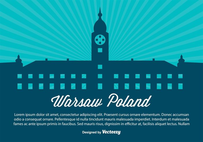 welcome warsaw pokland warsaw vintage urban travel tower tourism symbol summer structure skyscraper skyline sky silhouette retro poland panorama panaroma modern map landscape landmark horizon flat Europe Destination design cityscape city building background back architecture