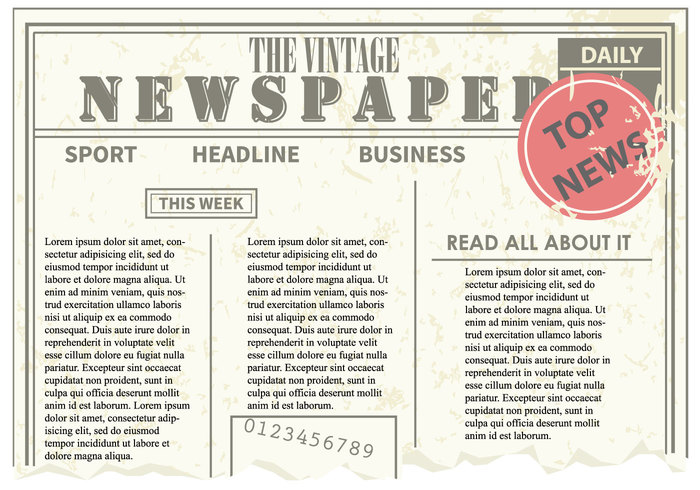 vintage vertical vector trash raster paper old newspaper old newspaper letter grunge frame dirty design daily border blank background backdrop