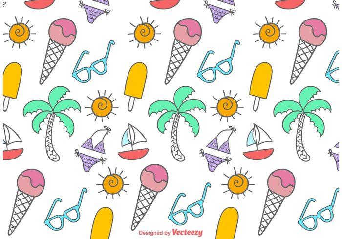 wallpaper vintage vacation tropical travel swimsuit pattern swimsuit sunglasses sun summer seamless sea retro pattern Journey ice cream pattern ice cream ice doodle cute cream cartoon bikini swimsuit bikini pattern bikini beach background