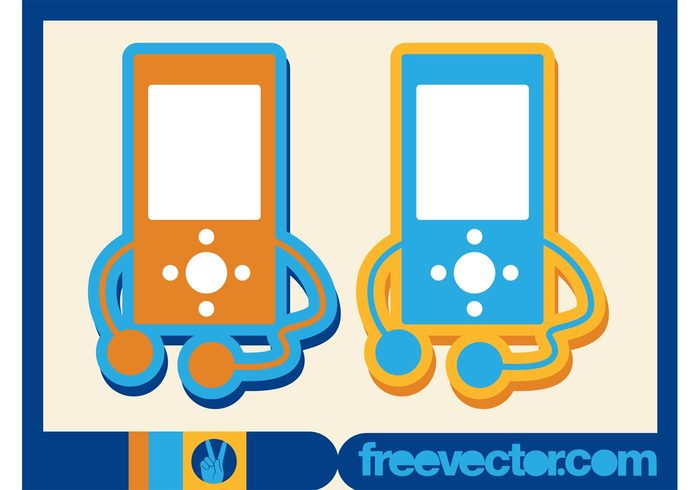 technology tech screens players musical music logos icons headphones gadgets devices buttons