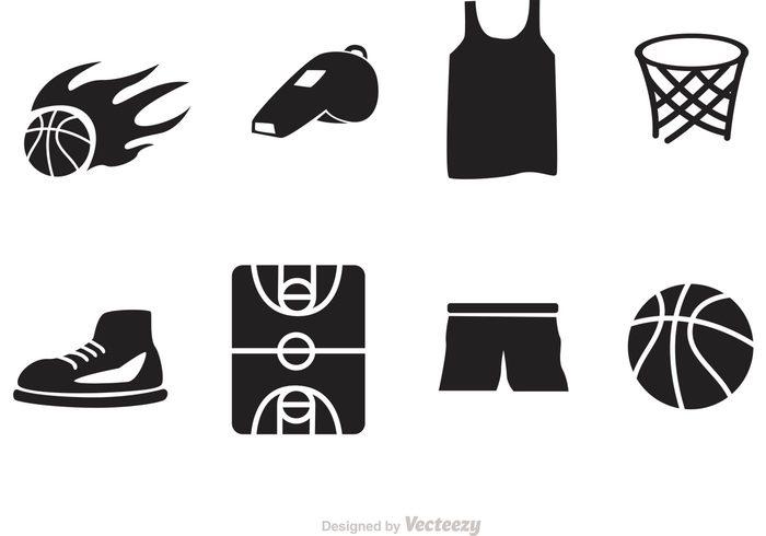 k53yg5lkjuy Basketball Vector Icons 136127
