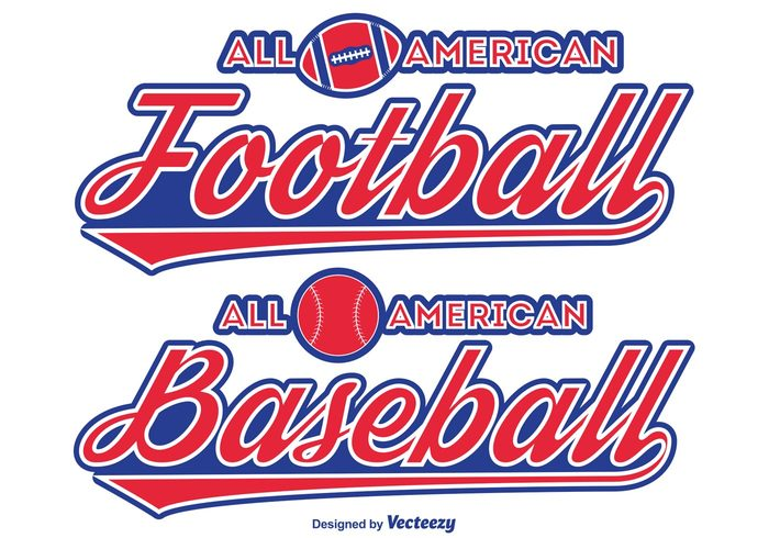 typography typographic sports label typographic labels Tradition star sports sport label sport Signage sign red white blue red major leagues labels label insignia headline football field event blue baseball opening day baseball banner ball american all american football all american baseball all american