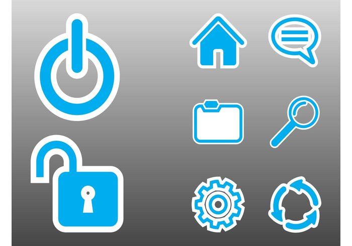 www website web technology stickers setting power operating system online logos internet folders computer