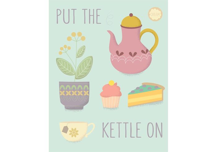 teatime teapot tea potted plant plant pie muffin kettle House plant high tea Herb food flower pot flower cupcake cup cream cake breakfast Biscuit beverage