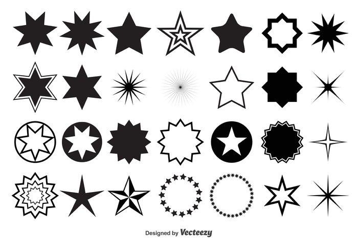 vector shapes vector elements vector design elements stars starry star shapes star shape star frames star frame star sparkles sparkle elements Design Elements decorative star black star 5 point star