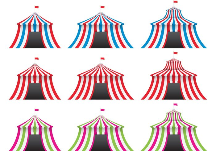 vintage circus top theater tent striped show retro circus Premiere performance marquee leisure joy isolated funfair fun flag festive festival event entrance entertainment Circus childhood celebration carnival blue big top big arena amusement