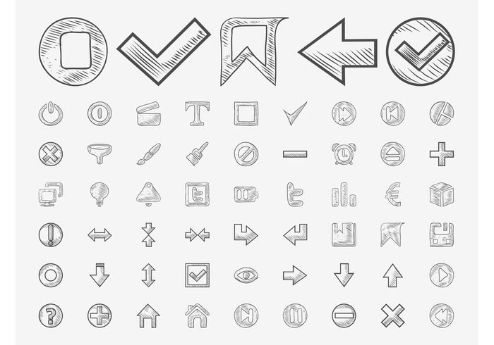 tumblr technology tech symbols save play pause logos interface icons home hand drawn drawings doodles buttons alarm