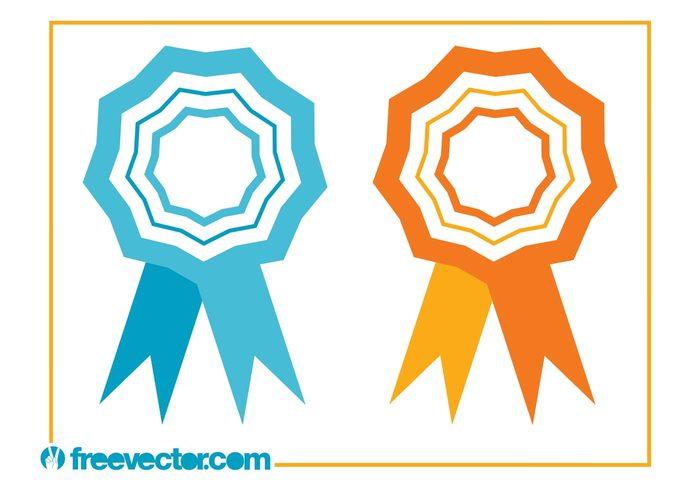 ribbons Prizes Military awards medals medal logos icons badges badge awards