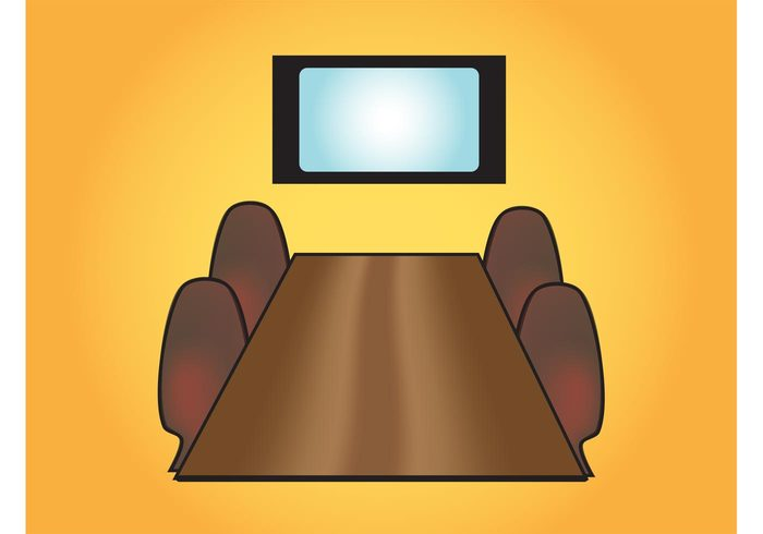 working work wooden tv television table screen professional office meeting management chairs chair business