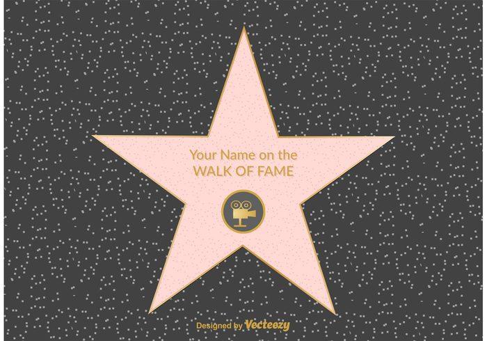 Free hollywood walk of fame vector welovesolo winner walk of fame star walk of fame walk vector usa symbol success street stone star stopboris Images