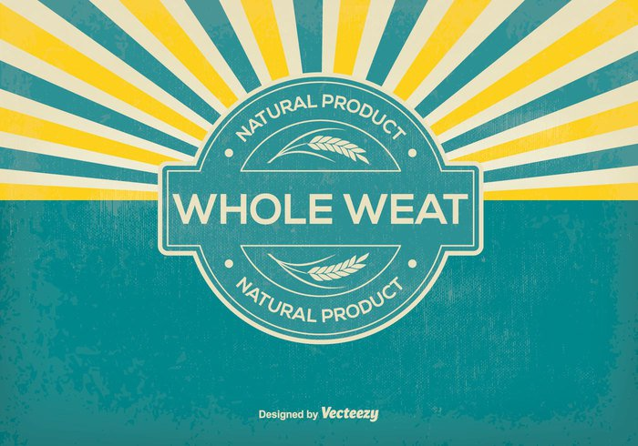 whole wheat Wheat vector wheat stalk wheat vintage vector symbol sunburst sign rice retro quality promotional product plant organic product organic old oat nutrition natural product natural market label illustration icon Healthy grow grain gold Gluten fresh food farm element eat Distressed Diet design bread banner Backgrounds background agriculture advertisement