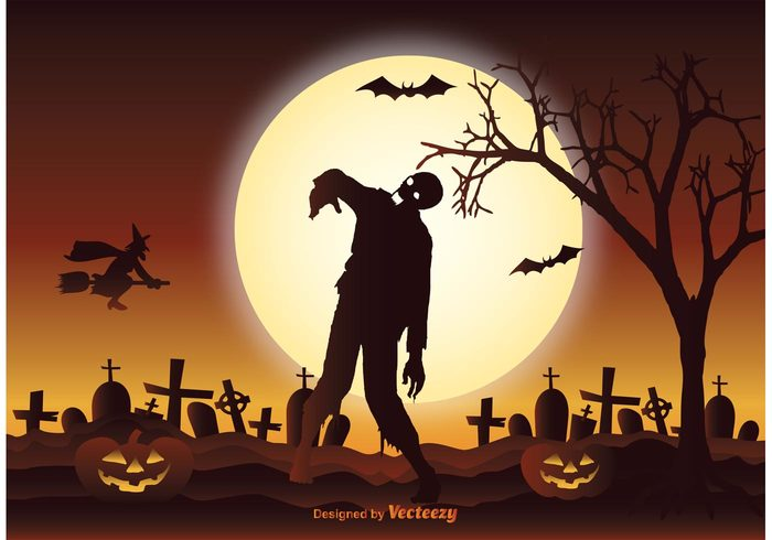 zombie silhouette vintage Tomb spooky sky silhouette scene scary raven poster old October night nature mystery mysterious moon mist light invitation horror holiday haunted halloween graveyard Grave Gothic ghost flying Fear fantasy evil dusk death dark cross concept cemetery celebration card background autumn advertisement