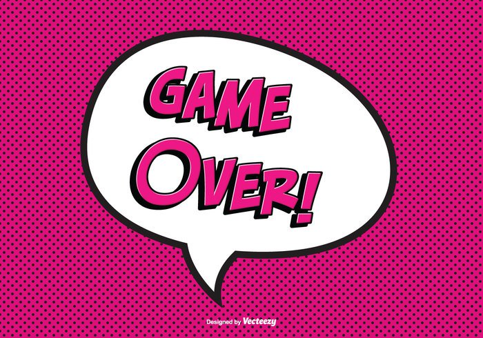 the end text stamp sign set score red post polka dot playing play pink over note lose interface illustration icon graphic games game-over game over vector game over text game fun fin failure end defeat cute comic style comic cartoon Backgrounds background backdrop art