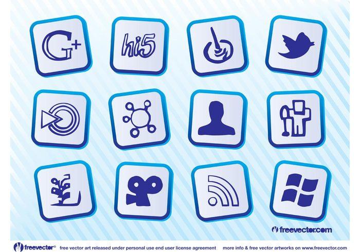 Viddler vcard twitter social media RSS network mixx Hi5 google feed DIGG computer communication bird