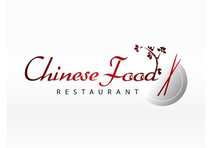 Shanghai restaurant meal Logo download logo design food emblem eating chopsticks Chinese food Beijing