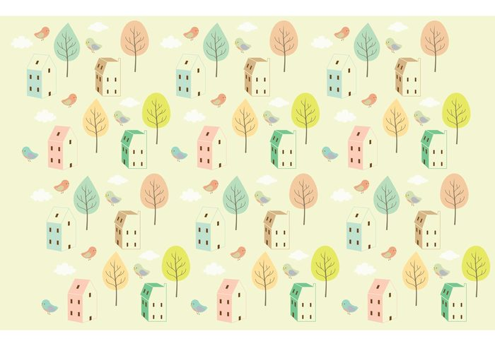 vintage colors tree seamless background pattern nature landscape houses house pattern house home pattern Habitat flat house flat cute house clouds cityscape building patern building bird background apartment