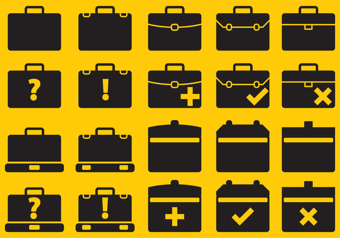 omofobmql4a Vector Suitcase Icons 136190