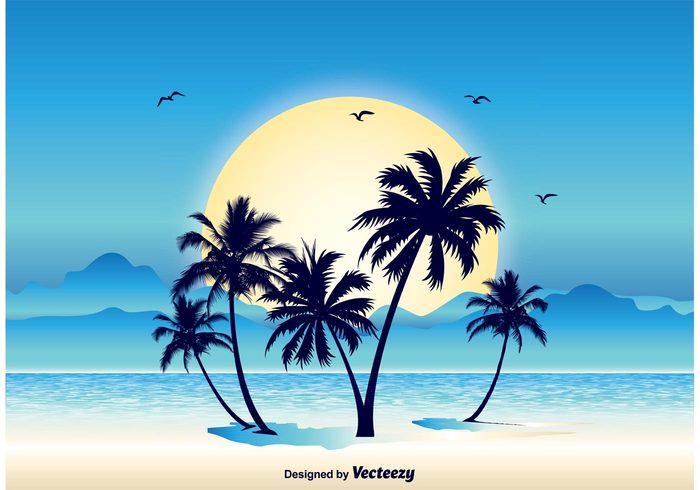 water view vector vacation tropical scene tropical tree travel tourism sunset sunrise sunny sun summer sky shore seascape sea scenic scenery scene sand peaceful paradise palm Outdoor ocean nature landscape nature illustration nature marine landscape illustration landscape lagoon island illustration holiday flock of birds exotic evening dawn Coastline coast boat birds bird beauty beautiful beach background albatross
