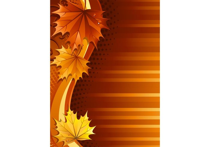 yellow swoosh swirl stripes orange nature vector nature leaves leaf halftone Fall dots Cool backgrounds brown autumn