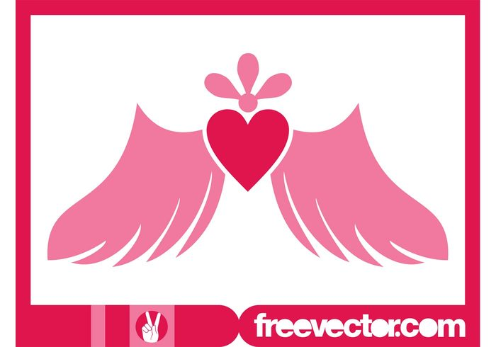 wings winged valentines day valentine romantic romance love heart flower feelings emotions