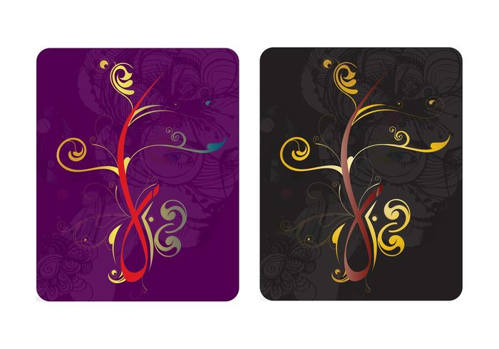 woman swirls scrolls Rectangles plants nature girls girl flowers floral face cards Backgrounds abstract