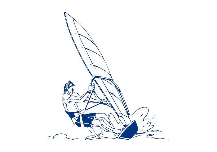 windsurfing Windsurfer Windsurf Water sport water vacation summer sport sea Recreation ocean muscular man holiday Hobby