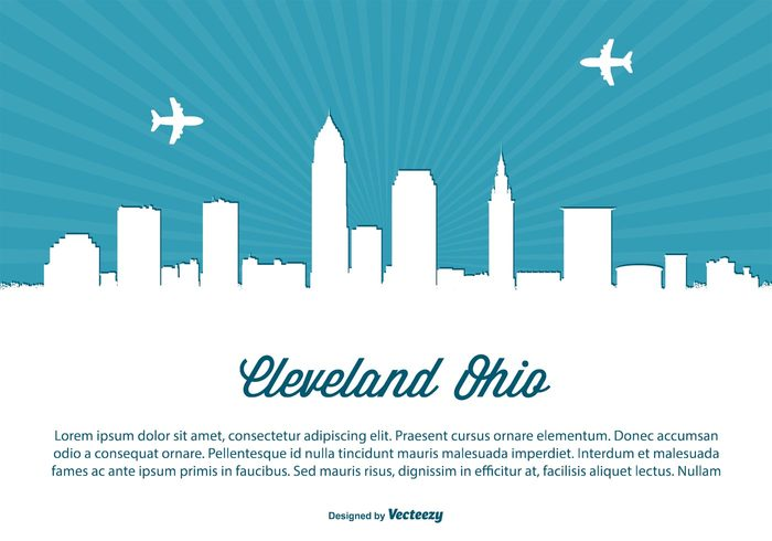 white USA United travel text tall sunset sunrise states space skyscraper skyline sky silhouette reflection poster postcard ohio skyline ohio monument modern landmark illustration high front downtown day dark coast cleveland ohio Cleveland cityscape city skyline city building beautiful background architecture america