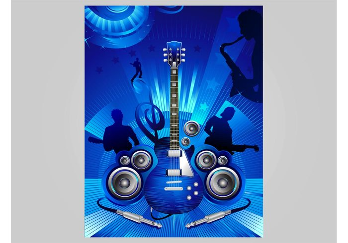 stars performance people nightlife musicians musical instruments music live guitar flyer Flier concert club circles