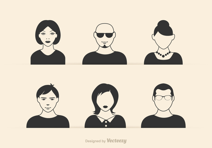 women web wear vintage vector user template teenager silhouette shape set retro portrait person people men male logotype logo lady isolated illustration icon hipster head Hairstyle Haircut hair glasses girl Gentleman flat female face eyeglasses design default avatar clothing character beard avatar