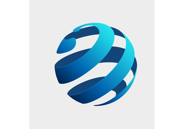 Free Vector Of The Day 141 Globe Logo Concept 138789