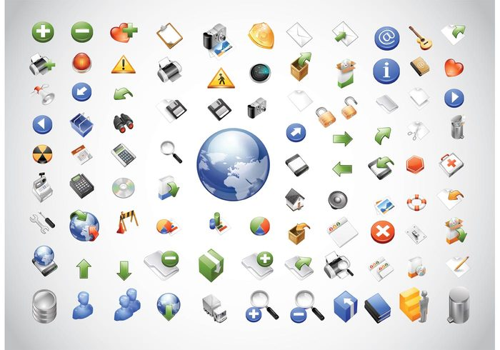 world web truck tools symbols software set send picture person people pack letter icon home heart hardware graphics earth camera