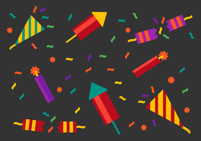 Rockets poppers pop party poppers party popper party new years new year holidays holiday Fireworks festive confetti colors christmas celebration celebrate