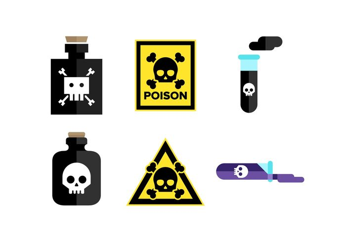 Warnings warning signs warning skulls skull and crossbones skull poison sign poison icon poison bottle poison moral minimal icon minimal Lethal flat icons flat icon flat Dangerous danger signs danger sign danger