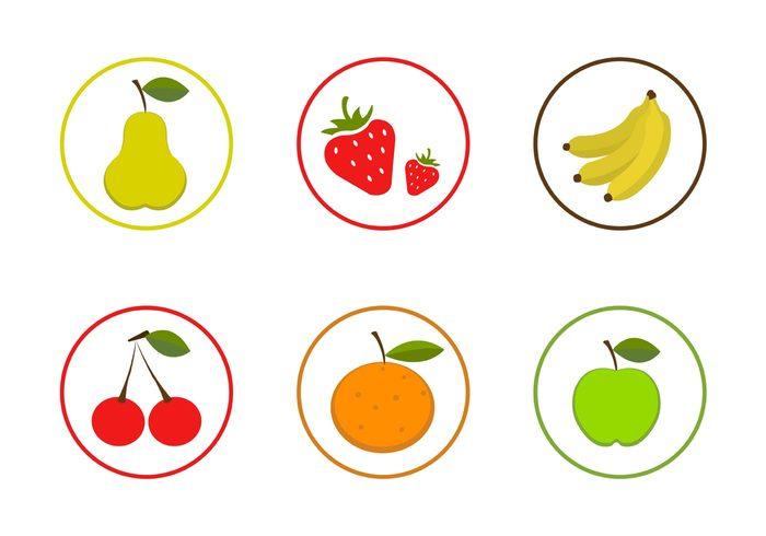 summer fruit strawberry pear peach orange juice fruits fruit icon fresh food icon food cherry banana apple