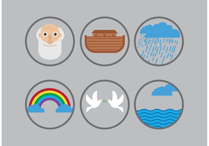 water simple raining rain pigeon noah's flood noah's ark noah genesis Flood flat dove bible story bible ark